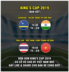 VTC sẽ phát sóng chính thức giải đấu bóng đá giao hữu King' Cup 2019