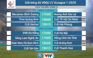 Lịch thi đấu và trực tiếp vòng 9 V.League 2020: Than Quảng Ninh – CLB TP Hồ Chí Minh, DNH Nam Định – CLB Quảng Nam