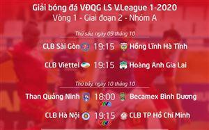 Lịch thi đấu và trực tiếp V.League 2020 vòng 1 – giai đoạn 2: Tâm điểm CLB Hà Nội – CLB TP Hồ Chí Minh (VTV5), Than Quảng Ninh – B. Bình Dương (VTV6)