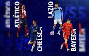 Lịch thi đấu UEFA Champions League đêm nay: Atletico Madrid - Chelsea, Lazio - Bayern Munich