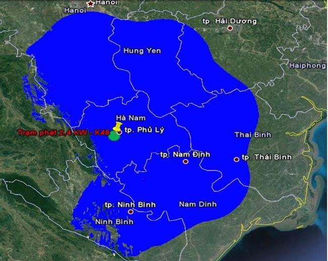 Bản đồ DVB T2 tại Hà Nam