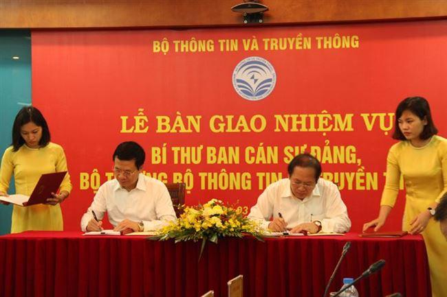 Bàn giao nhiệm vụ Bí thư Ban cán sự Đảng, Bộ trưởng Bộ Thông tin và Truyền thông