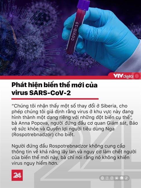 Tin nóng đầu ngày 18/11: Phát hiện biến thể mới của virus SARS-CoV-2