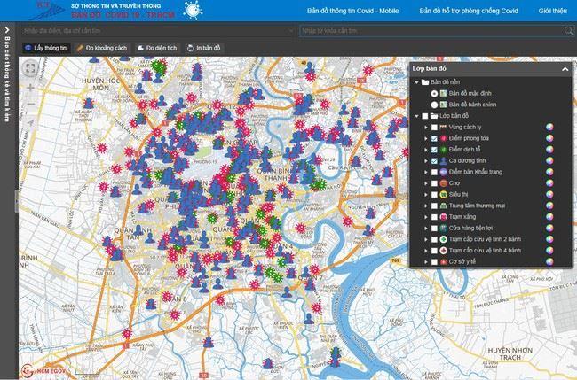 TP Hồ Chí Minh ra mắt bản đồ hỗ trợ phòng chống dịch COVID-19