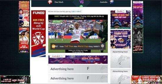 """Nhiều trang web """"lậu"""" ngang nhiên vi phạm bản quyền World Cup 2018"""