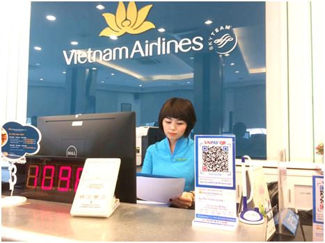 Từ tháng 7, mua vé Vietnam Airlines thanh toán bằng QR CODE