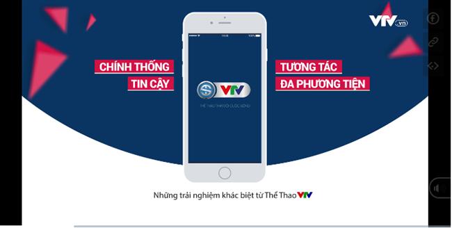 Ra mắt ứng dụng dành riêng cho thể thao VTV Sports trên iOS và Android